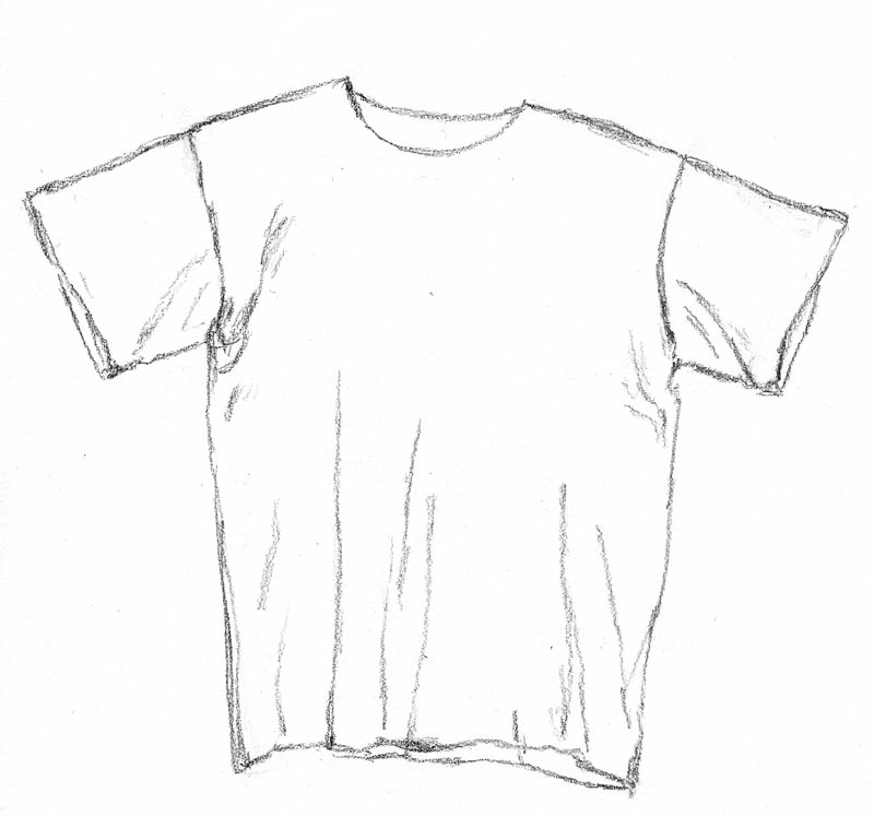 sketch t shirt 02 sleeves and folds