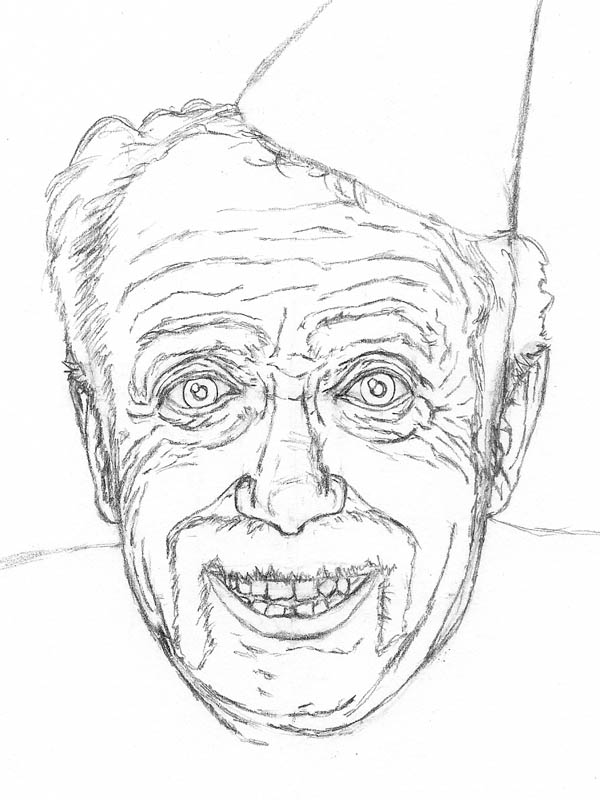 07 how to draw an old man with wrinkles