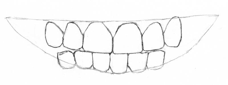 11 how to draw teeth erase guidelines