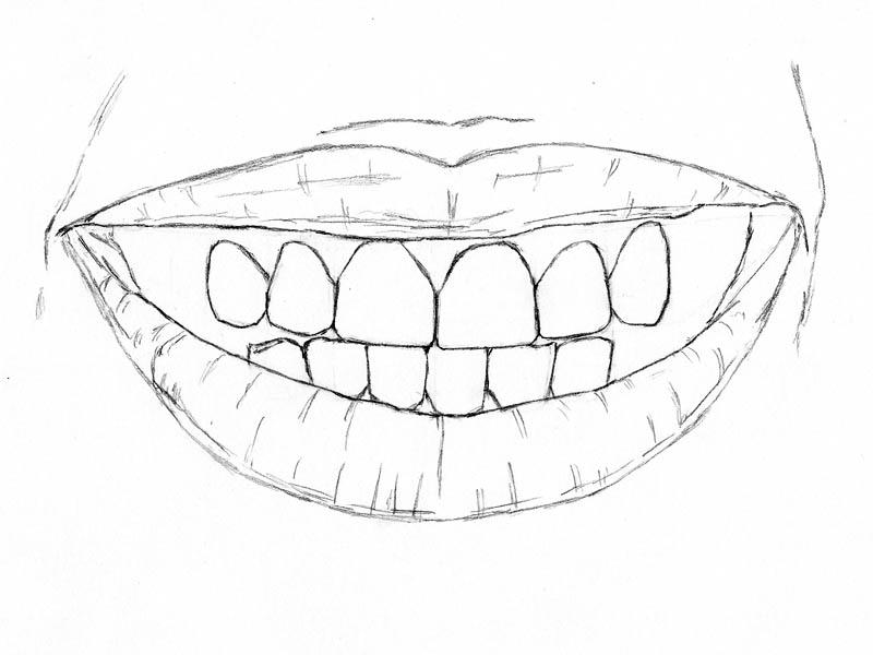 12 how to draw teeth lips