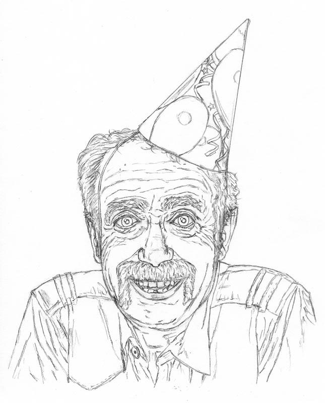 How To Draw An Old Man On His Birthday