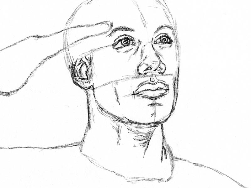 07 how to draw an army man ears jawline neck