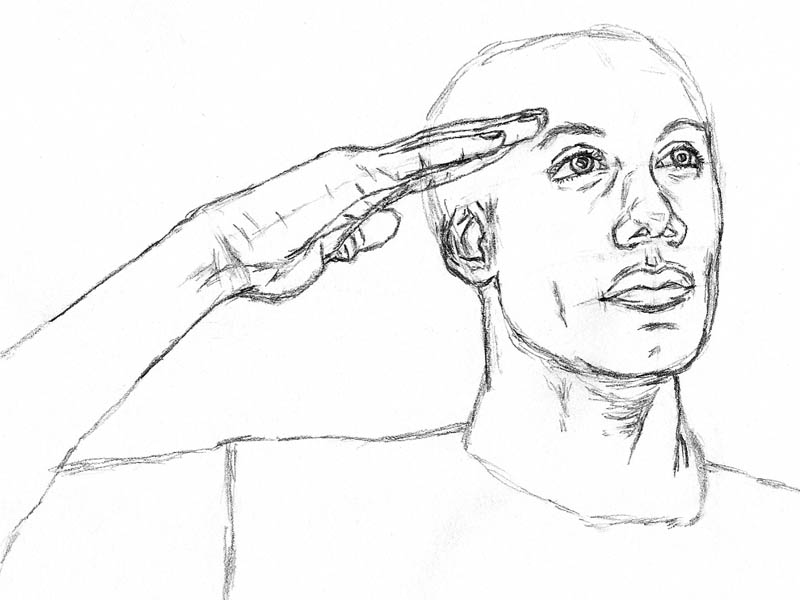 08 how to draw an army man saluting hand