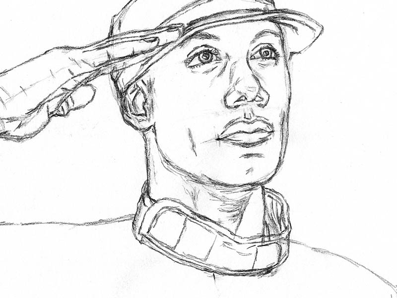 10 how to draw an army man collar