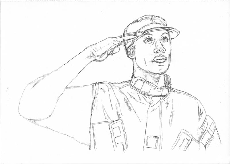 11 how to draw an army man jacket
