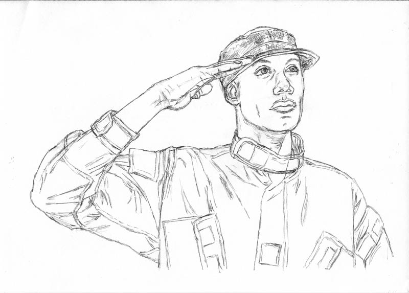 13 how to draw an army man hat camo