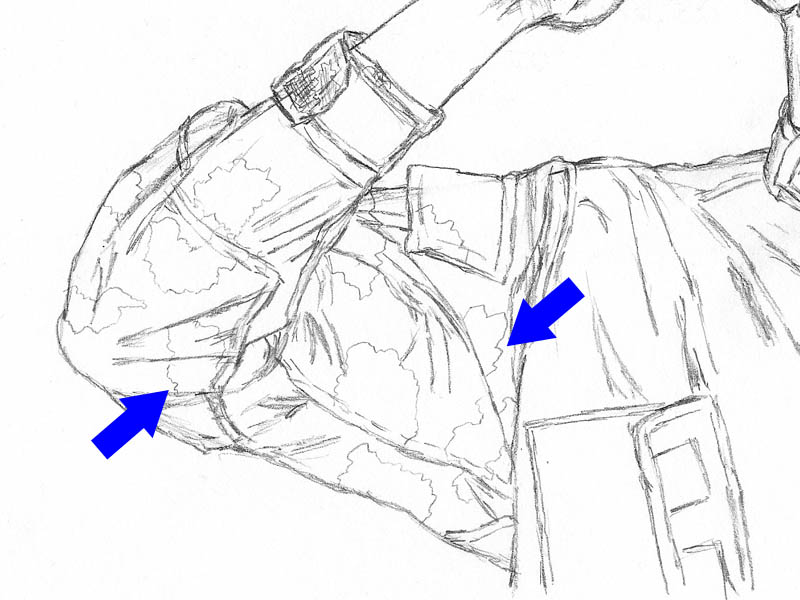 14 how to draw an army man sleeve camo foliage green outline