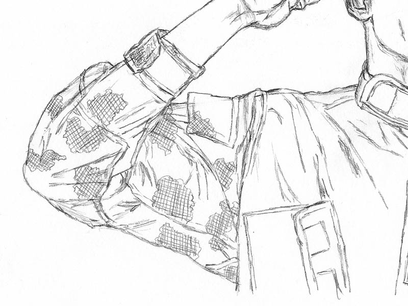 15 how to draw an army man sleeve camo foliage green crosshatch