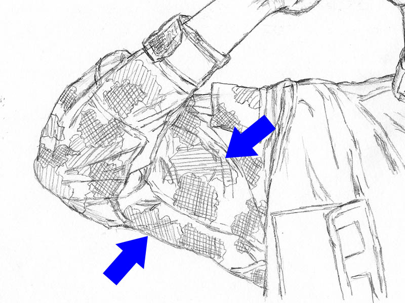 how to draw sleeve creases