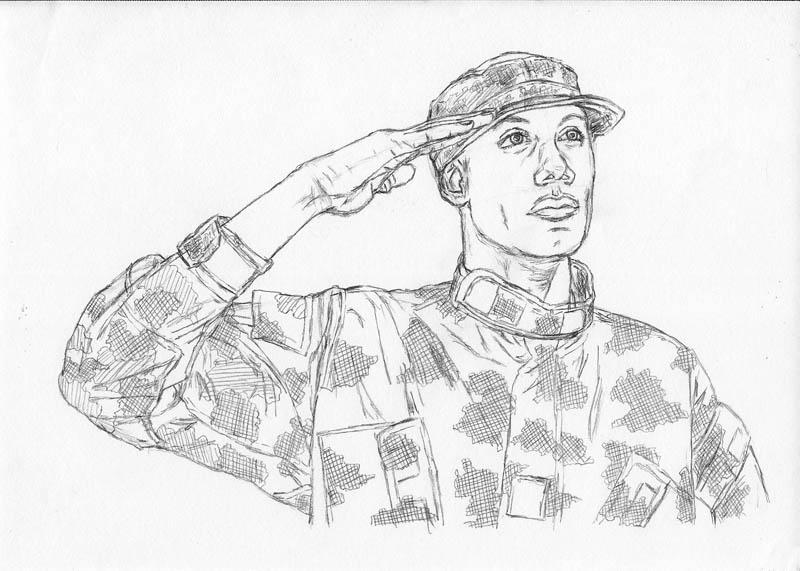 17 how to draw an army man jacket camo foliage green crosshatch