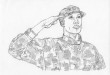 how to draw an army man