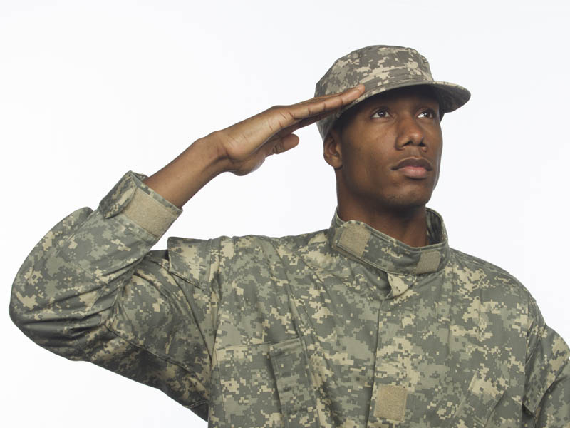 how to draw an army man saluting