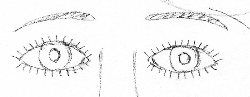 01 how to draw a face drawing inner corner eye