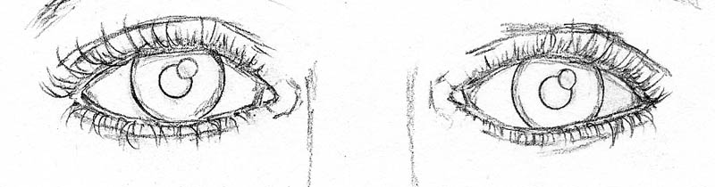 05 how to draw a face drawing eyelashes