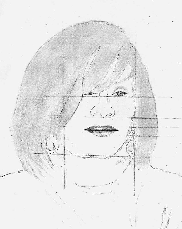 06 how to draw whitney houston hair step 2