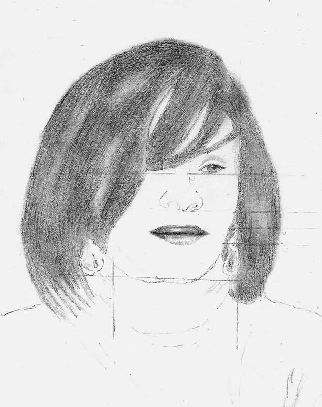 08 how to draw whitney houston hair step 4