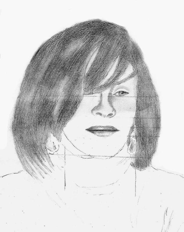 09 how to draw whitney houston face