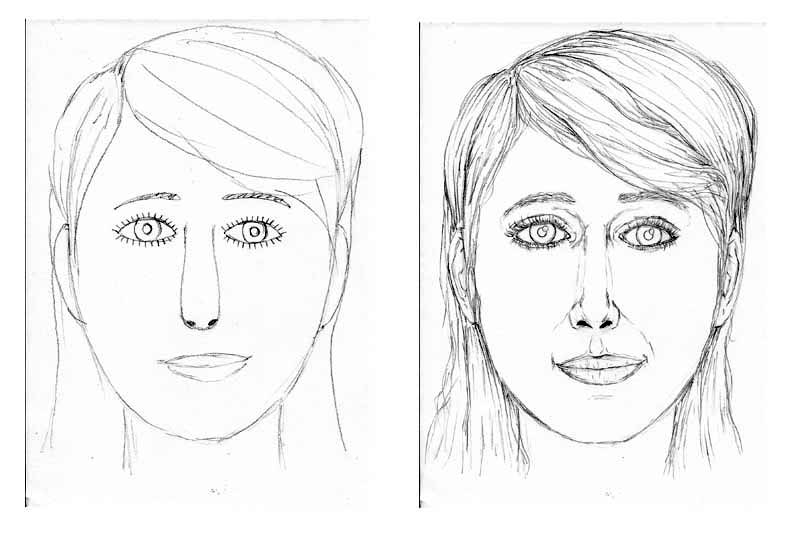 15 face drawing tips before and after