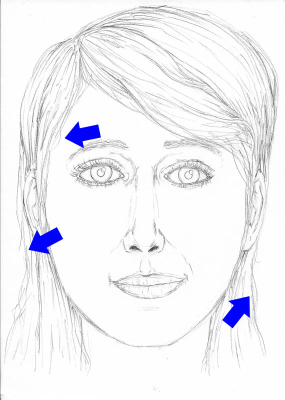 15 how to draw a face drawing loose strands