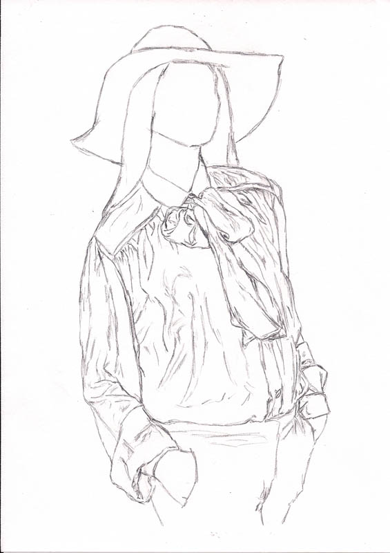 how to draw a blouse