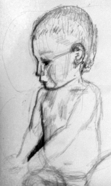how to draw children 05 infant