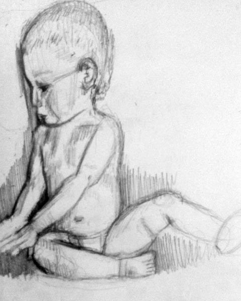 how to draw children 06 infant