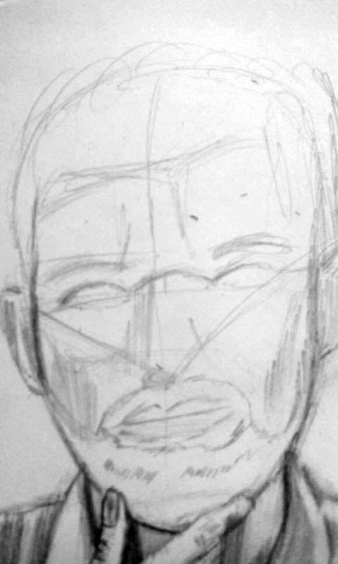 03 drawing of a man with a beard