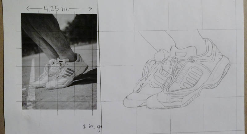 06 how to draw tennis shoes