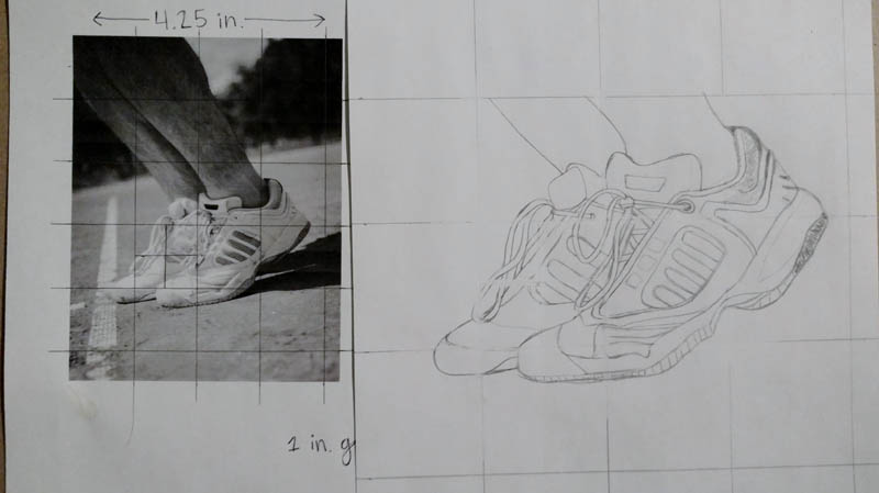 07 how to draw tennis shoes