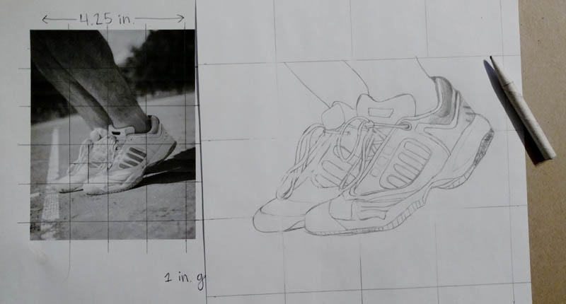 08 how to draw tennis shoes