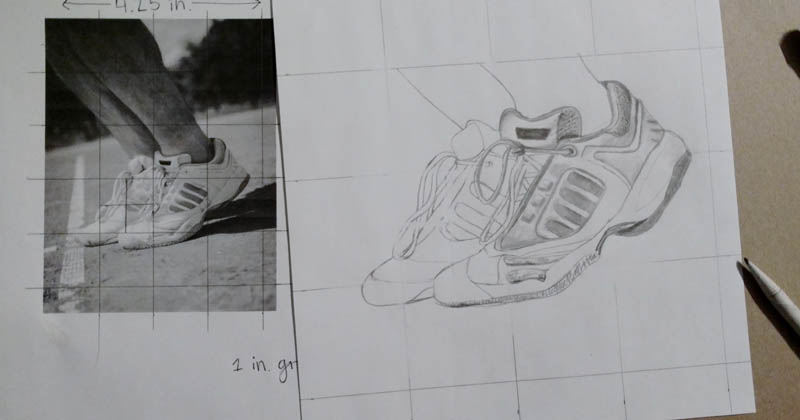 09 how to draw tennis shoes