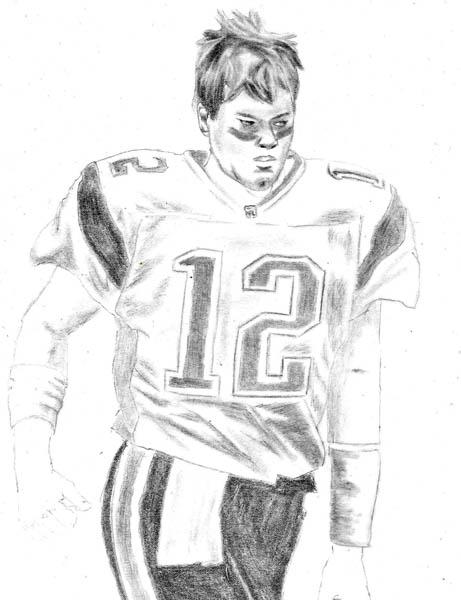 how to draw tom brady