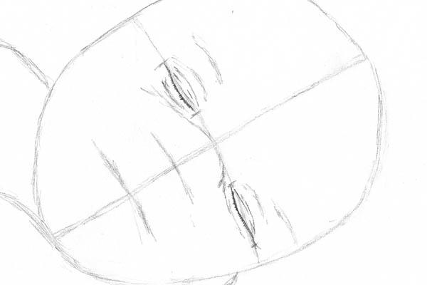 02 drawing of a baby sleeping eyes