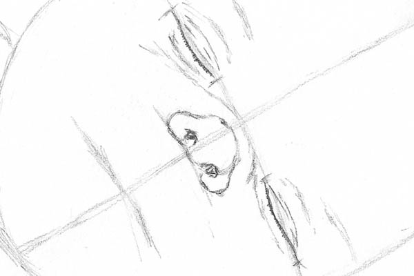 03 drawing of a baby sleeping nose