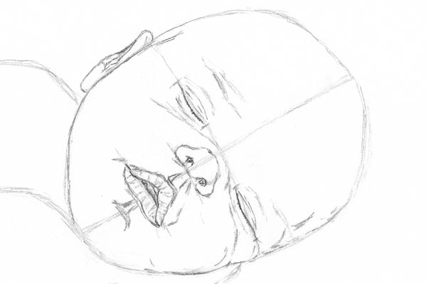 how to draw garfield sleeping