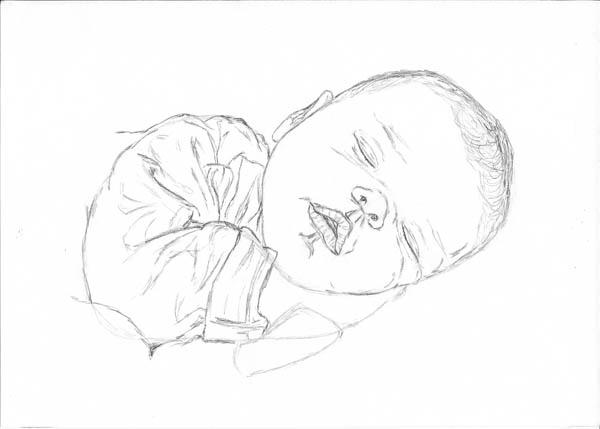 07 drawing of a baby sleeping sleeve