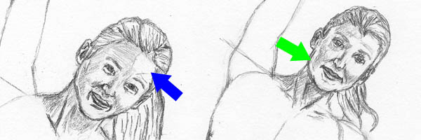 06 how to draw women stretching facial features tones