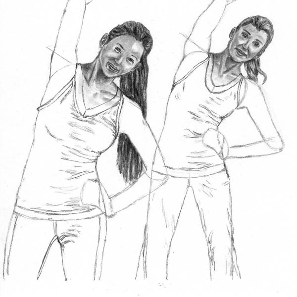 10 how to draw women stretching body details
