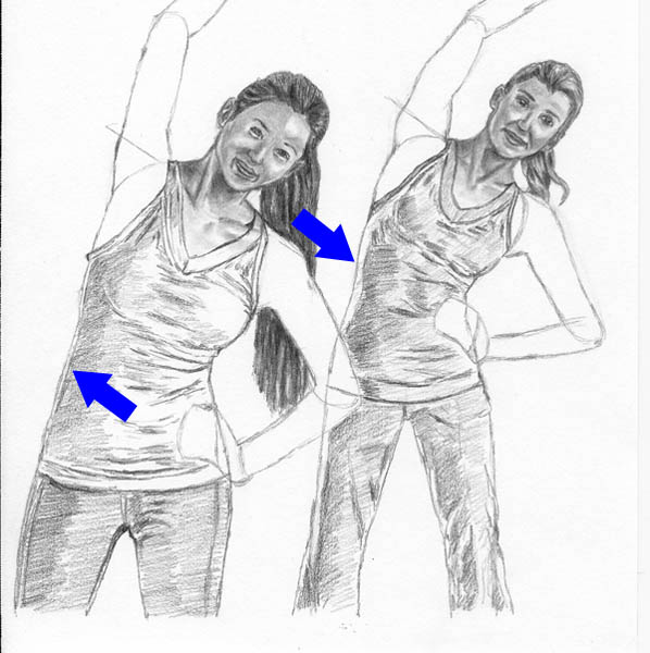 11 how to draw women stretching body details tones