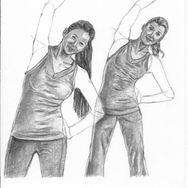 12 how to draw women stretching body details blend