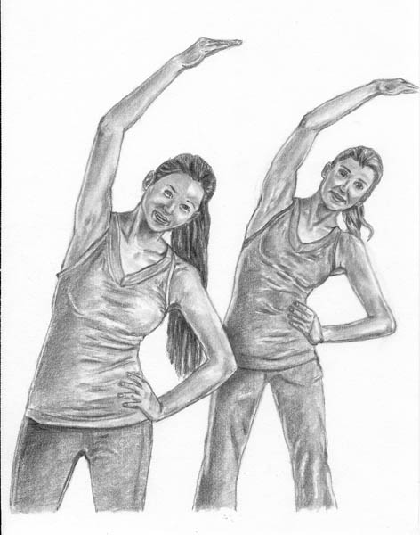 15 how to draw women stretching arms blend
