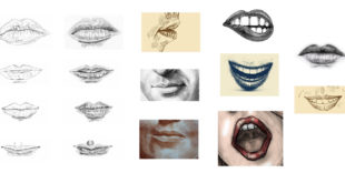 sketches of lips