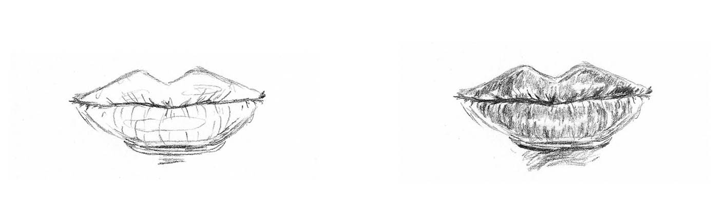Line Drawing With Shading : How these very different sketches of lips can help you