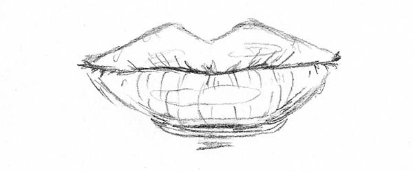 Simple Sketches Of Lips
