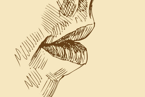 sketches of lips smiling lips sketch 01