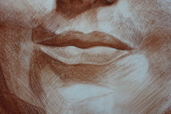 sketches of lips smiling lips sketch 03