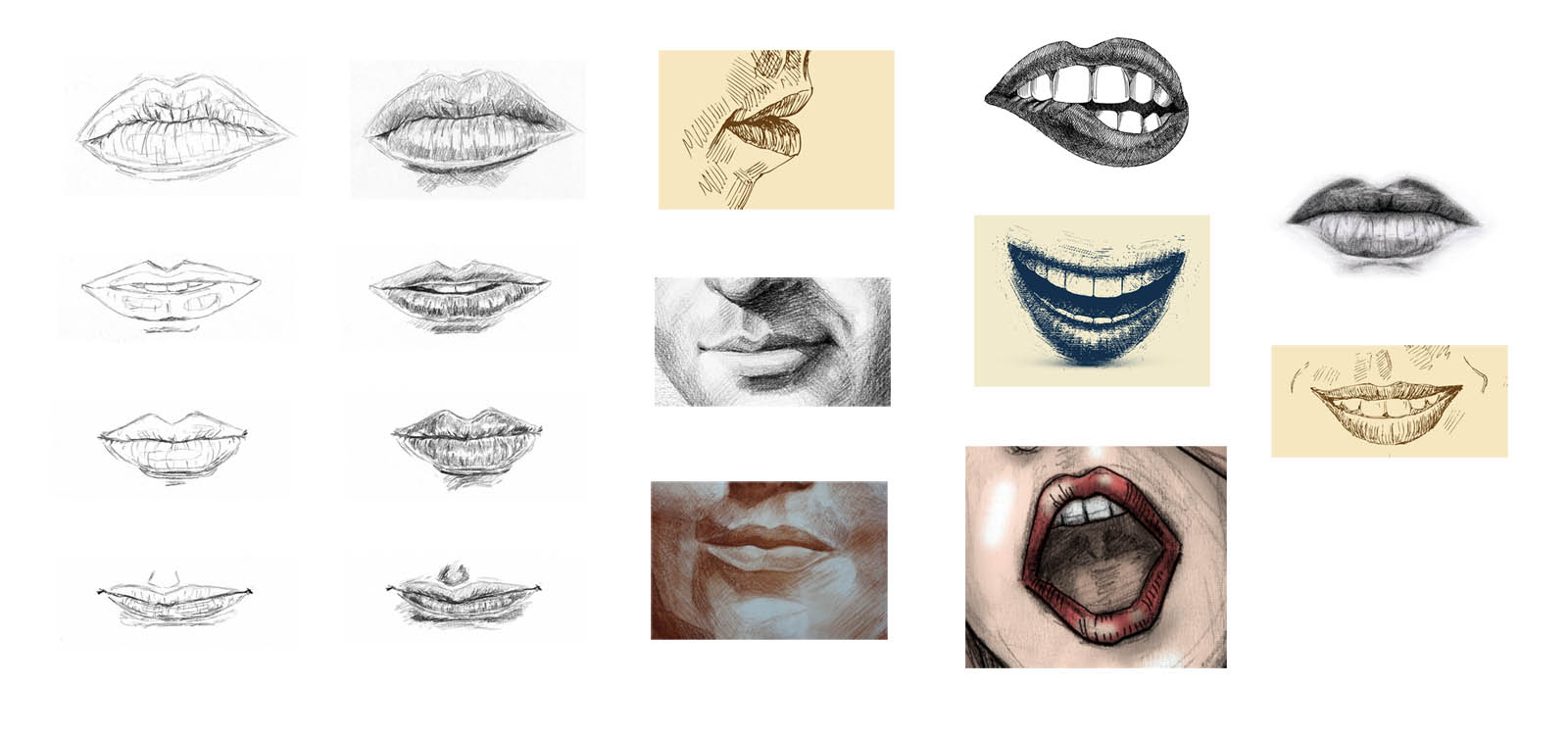 How to draw a lip. Instruction for beginners