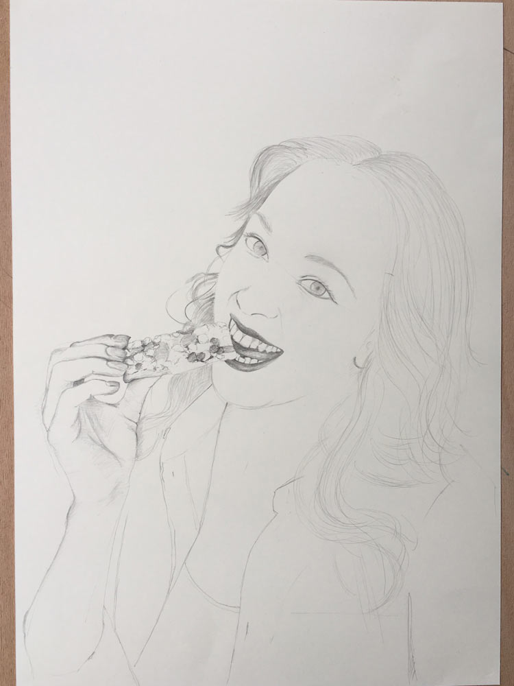 How To Draw A Lady Eating A Breakfast Bar Let S Draw People