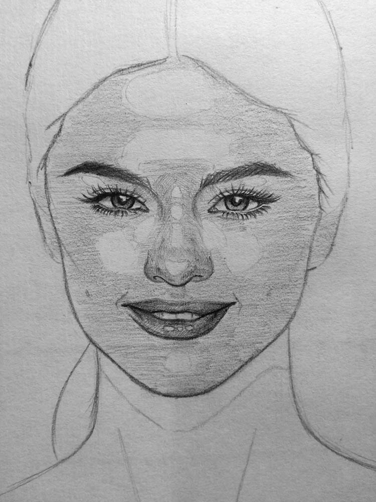 Scribble Drawing Face : How to draw selena gomez let s people