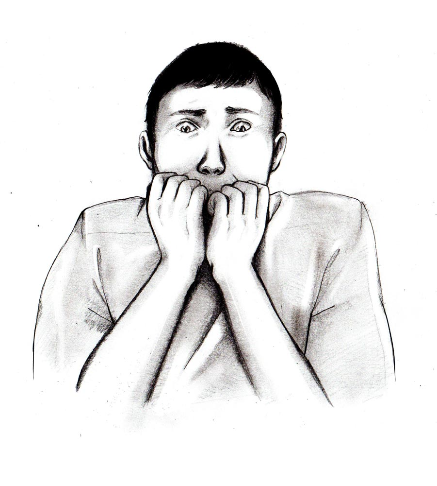 Scared Face Line Drawing : Learn how to draw a guy scared out of his mind let s
